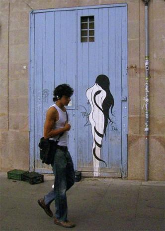 Barcelona raval street art from 2005