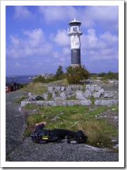 photographer,lighthouse, Huvudskär, Sweden