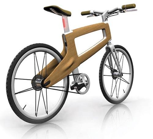 Wood Bike Front