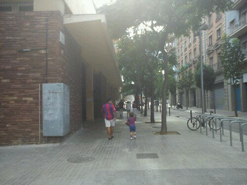 barça fans on the way to Camp Nou - Les Corts