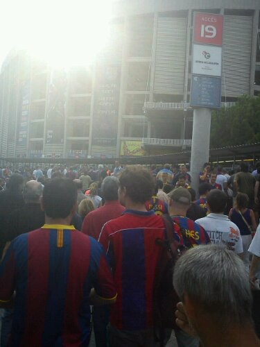 Before the match - Camp Nou