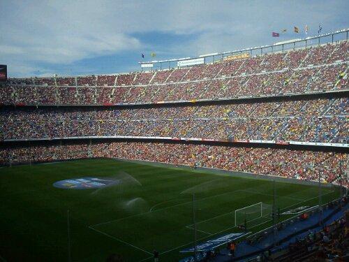 Camp Nou - catalan flag