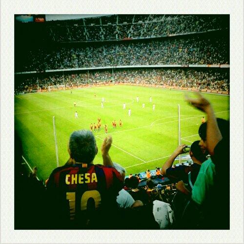 camp nou, barça taraftarı gol sevinci