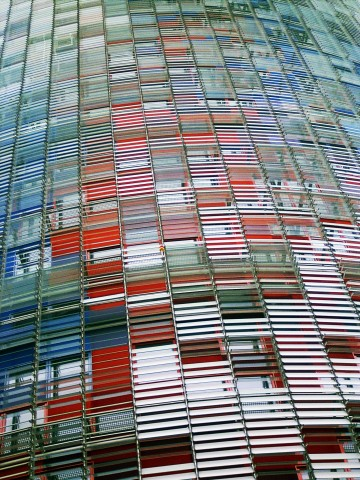 Torre Agbar, Boulevard Diagonal, Barcelona Spain, architect : Jean Nouvel