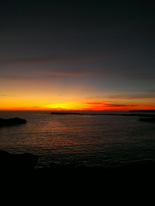 sunset in minorca - image