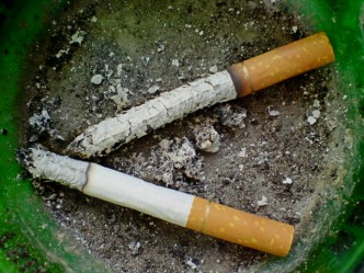 cigarettes - habits - ashtray